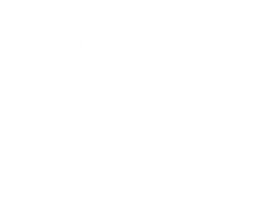 Logo Village by CA blanc transparent
